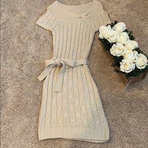 Agaci short sleeves knit midi dress